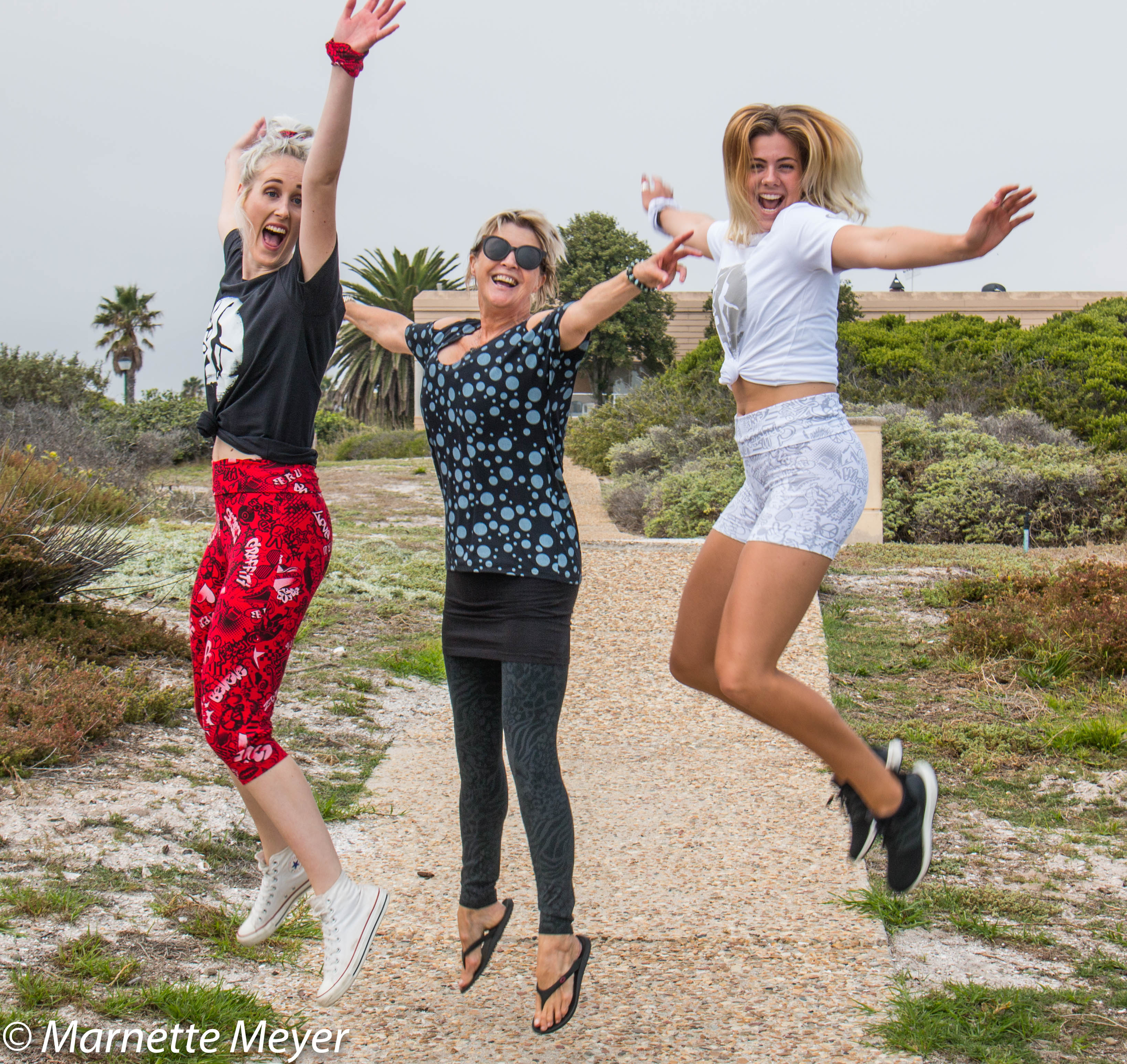 Me and the Girls Jumping
