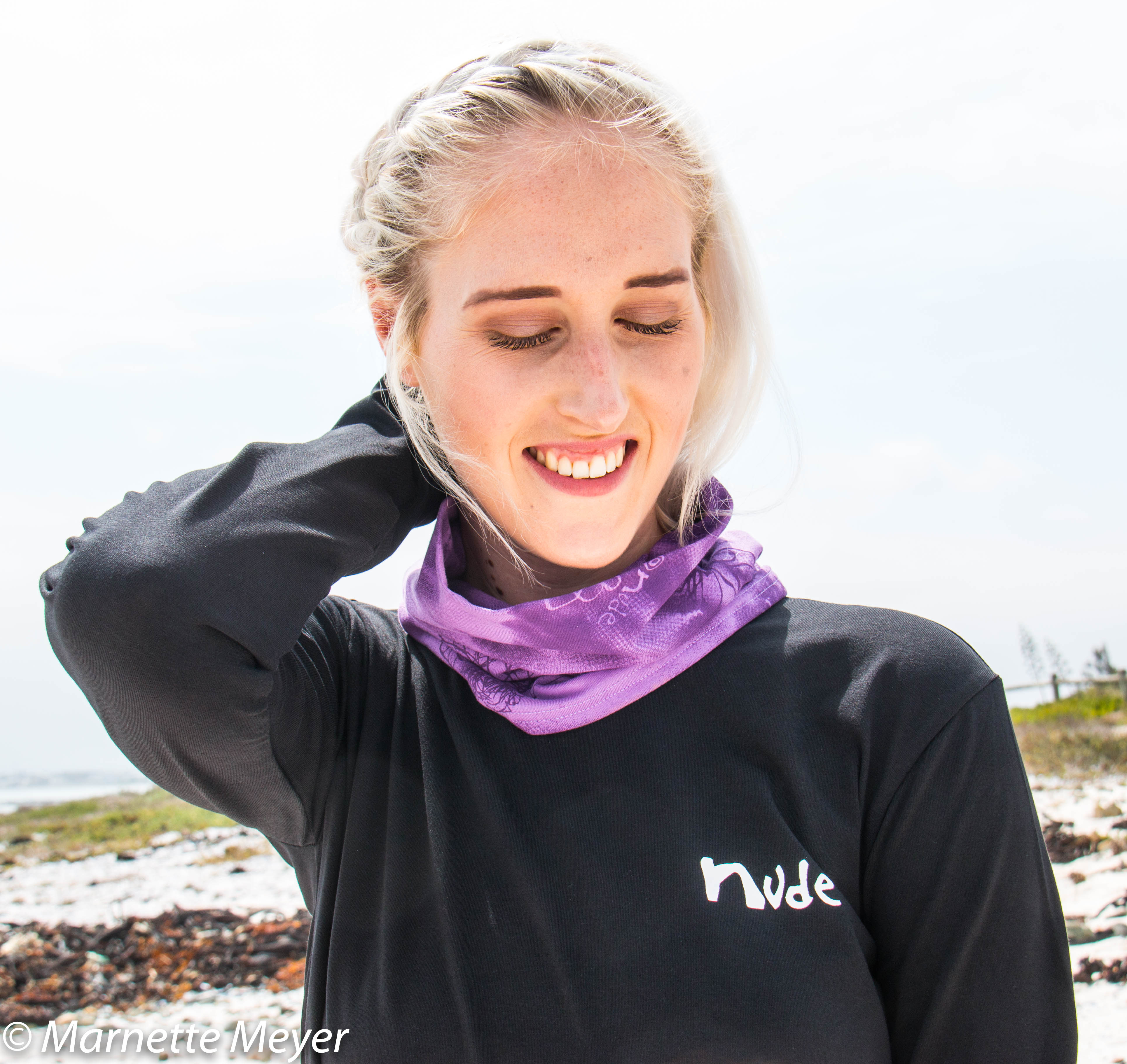 Nude T and Neck warmer purple